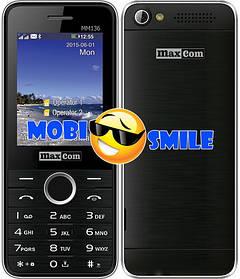 Телефон Maxcom MM136 Black-Silver Гарантія 12 місяців