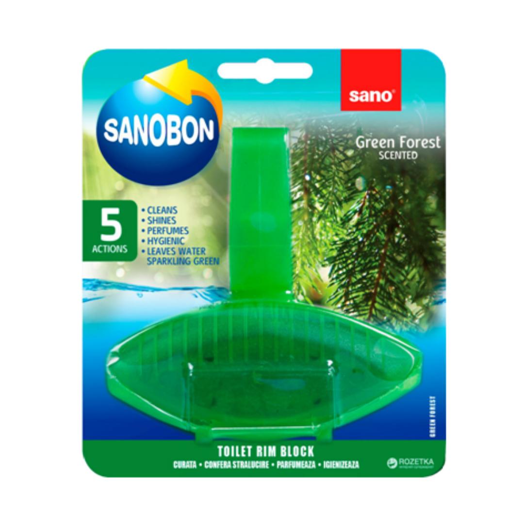Подвесной блок для туалета SANOBON Зеленый лес, 55 г
