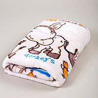 Детский плед в кроватку Karaca Home - Donkey's World акрил крем