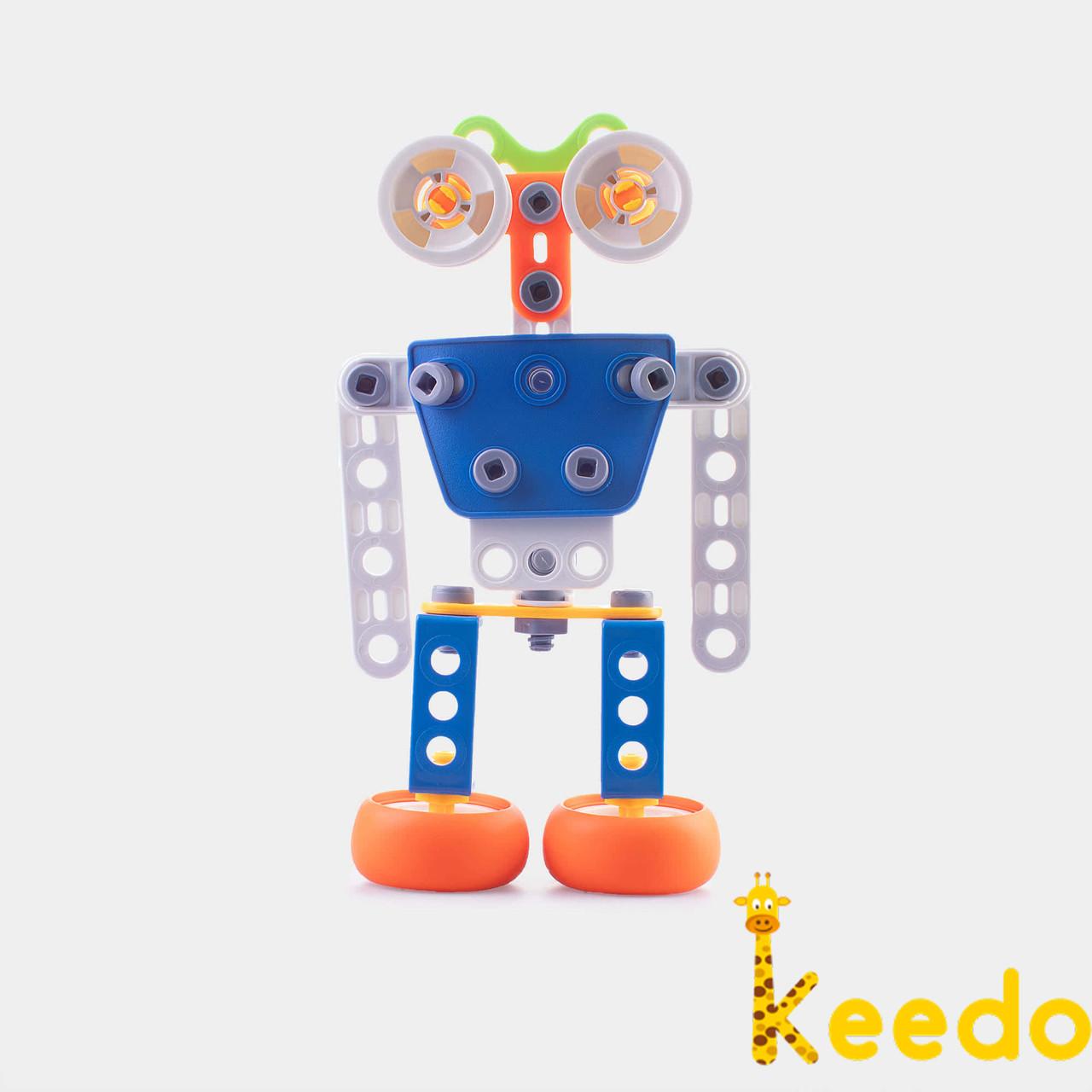 Конструктор KEEDO с мягкими деталями Робот на 59 деталей