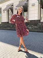 Элегантное платье из шифона с рукавами, фото 1
