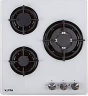 Газовая варочная панель Ventolux HG430-G1G CEST (WH) белое стекло газ контроль, фото 2