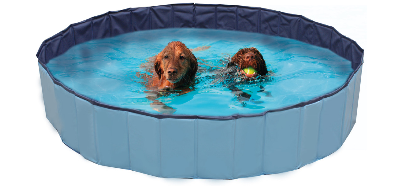 Бассейн для собак CROCI EXPLORER надувной, винил, 160х30 см лето