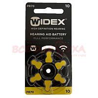 Батарейки для слуховых аппаратов Widex 10, 6 шт., фото 1