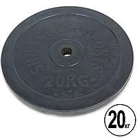 Блины (диски) 20 кг обрезиненные d-30мм (1шт*20 кг), фото 1