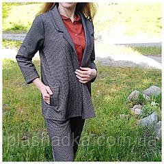 Брючный стильный женский костюм гусинная лапка 42-44 р. (Турция)