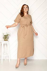 Женское летнее льняное платье 50-56 р