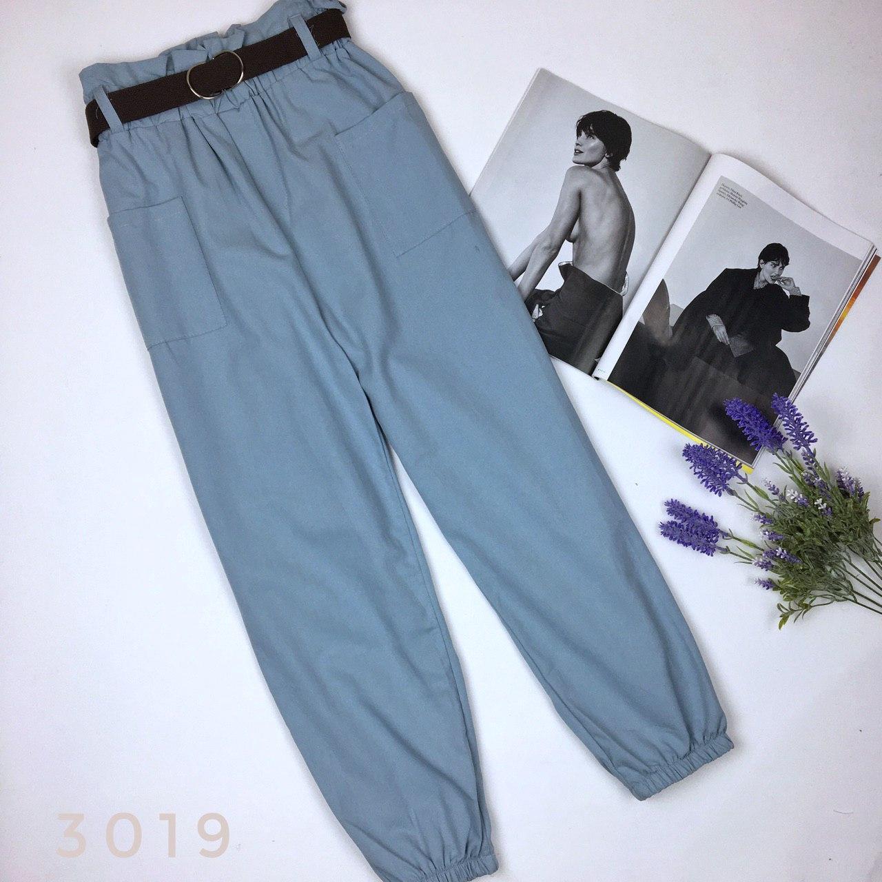 Женские брюки карго с поясом