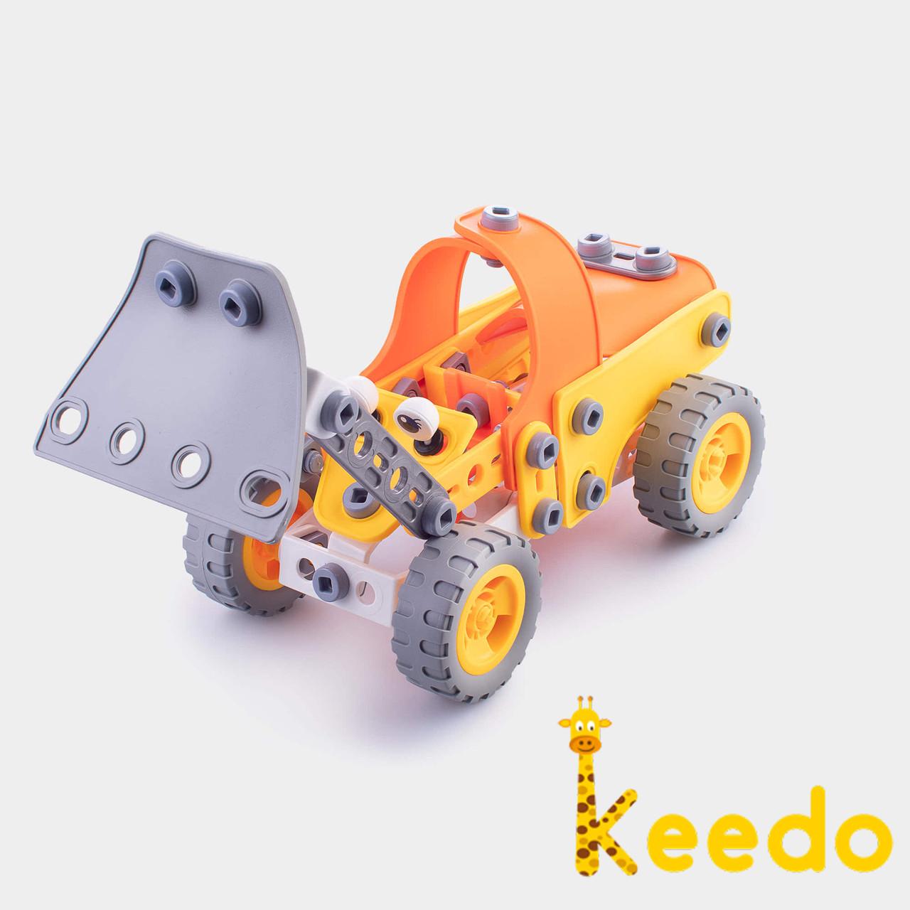 Конструктор KEEDO с мягкими деталями Бульдозер на 116 деталей