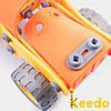 Конструктор KEEDO с мягкими деталями Бульдозер на 116 деталей, фото 4