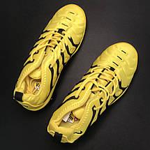 Кроссовки женские Nike VaporMax TN желтые-черные (Top replic), фото 2