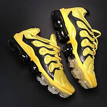 Кроссовки женские Nike VaporMax TN желтые-черные (Top replic), фото 3