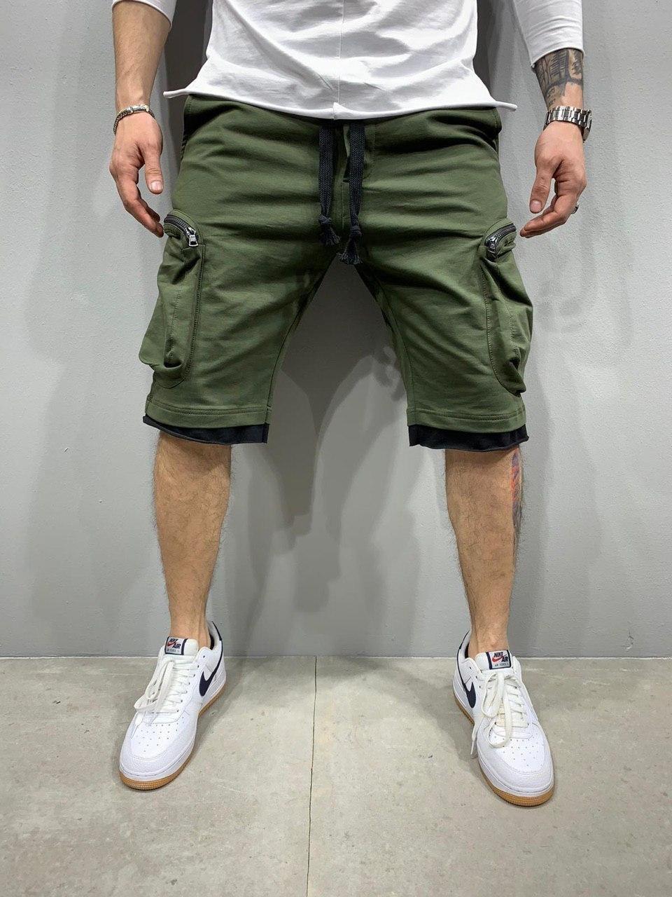 Мужские шорты трикотажные хаки 2Y Premium 5120