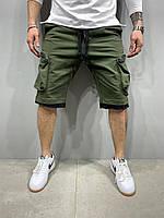 Мужские шорты трикотажные хаки 2Y Premium 5120, фото 1