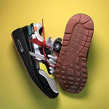 Кроссовки женские Nike Air Max 87 Og X Off-White черные-белые-желтые (Top replic), фото 2