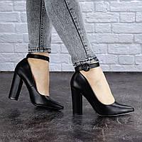 Туфли женские на каблуке Fashion Barney 1455 39 размер 25 см Черный