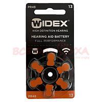 Батарейки для слухових апаратів Widex 13, 6 шт., фото 1