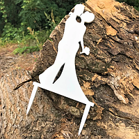 Вау! Свадебный Деревянный Топпер для десерта 25х12 см №4, Белый