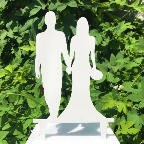 Вау! Деревянный Свадебный Топпер для декора 25х12 см №5, Белый