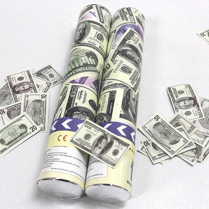 Пневматична хлопавка з доларами довжина 30 см 1754