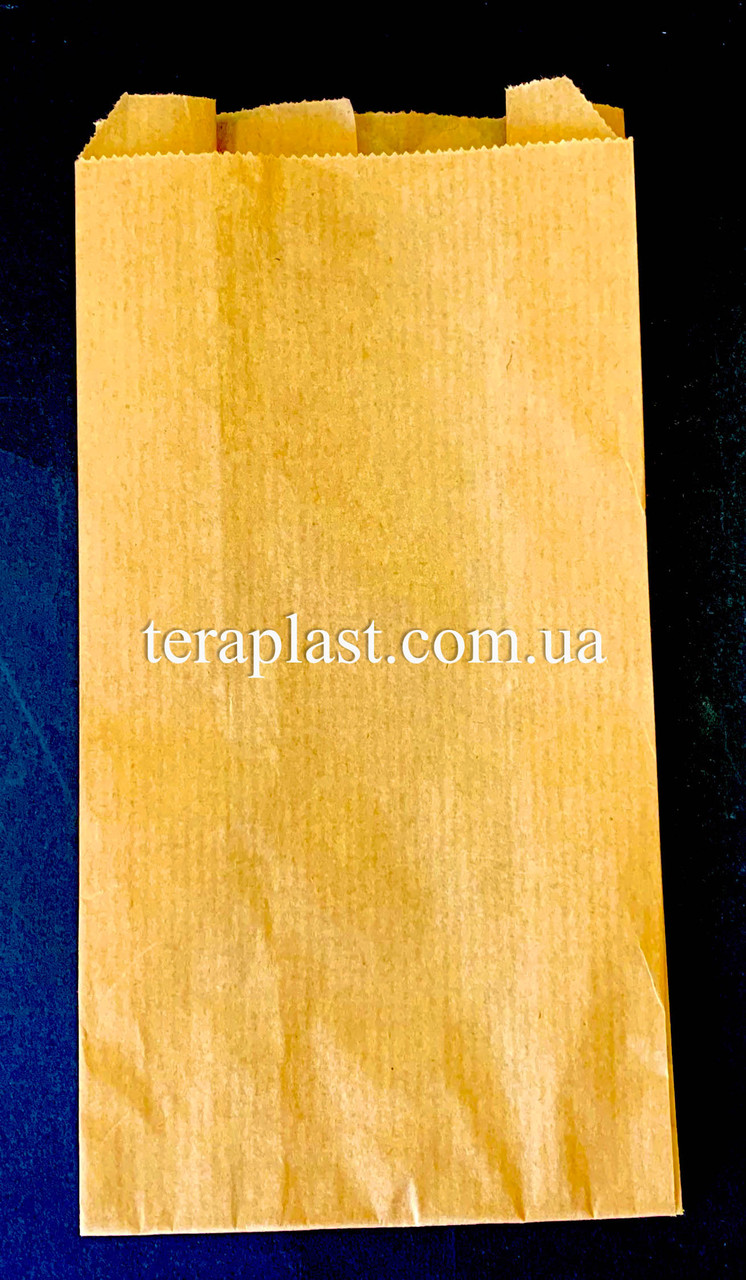 Пакет бумажный саше бурый 100х200х50 (импортный крафт)