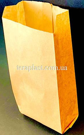 Пакет бумажный саше бурый 100х200х50 (импортный крафт), фото 2