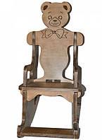 Крісло-гойдалка HEGA Медведик дерев'яний вінтаж