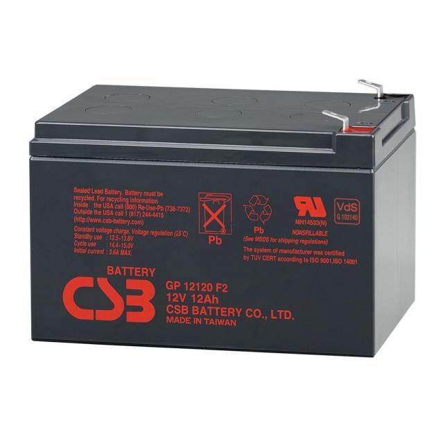 Аккумулятор CSB GP12120F2 (12Вольт, 12Ач)