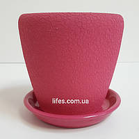 Вазон керамический малиновый шелк 1.2л