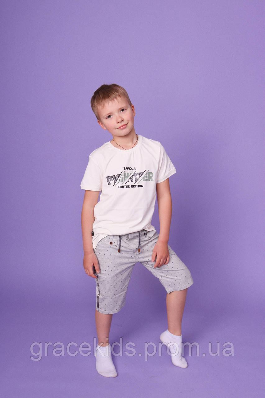 Подростковые котоновые шорты для мальчиков оптом GRACE,разм 134-164 см