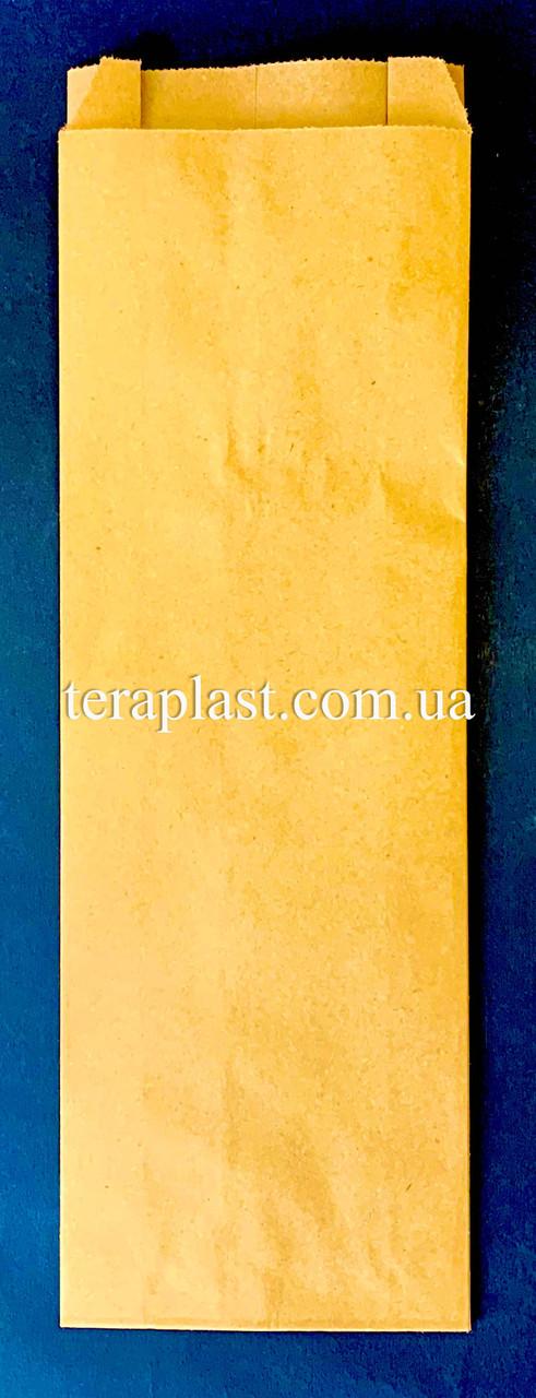 Пакет бумажный саше бурый 100х310х35