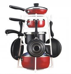 Органайзер, держатель для кастрюль и сковородок PanTree на 4 кастрюли, белый