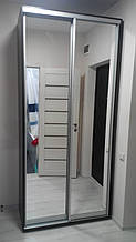 Шкаф-купе 160x60x240 см - две двери - зеркало или ДСП - МФ Влаби - Одесса