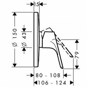 31964000 HG Focus FS Highflow Зовнішня частина змішувача для душу, хром, фото 2