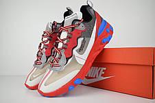 Кроссовки женские Undercover - Nike React Element 87 (серые-красные) Top replic, фото 3
