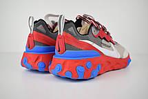 Кроссовки женские Undercover - Nike React Element 87 (серые-красные) Top replic, фото 2