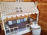 "Балдахин  на  детскую кроватку Домик "" Чехол Крыша "" шатер на кроватку,шалаш детский на крышу, фото 3"