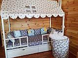 "Балдахин  на  детскую кроватку Домик "" Чехол Крыша "" шатер на кроватку,шалаш детский на крышу, фото 4"