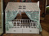 "Балдахин  на  детскую кроватку Домик "" Чехол Крыша "" шатер на кроватку,шалаш детский на крышу, фото 5"
