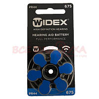 Батарейки для слуховых аппаратов Widex 675, 6 шт., фото 1