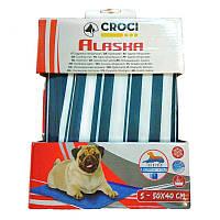 Охлаждающий коврик для собак 65х50 см (синяя полоска) лето