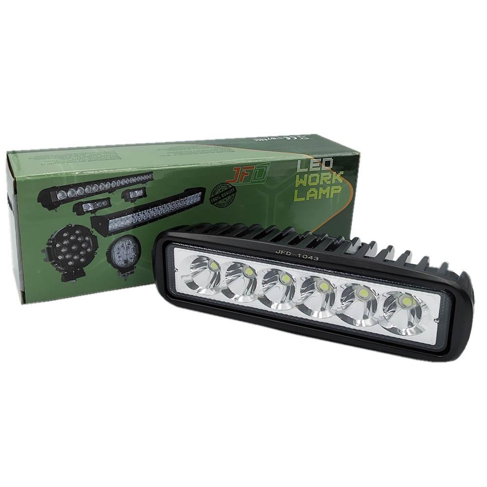 18W/30 (6x3W/вузький промінь, прямокутний корпус) 1320 lm LED Фара робоча JFD-1043