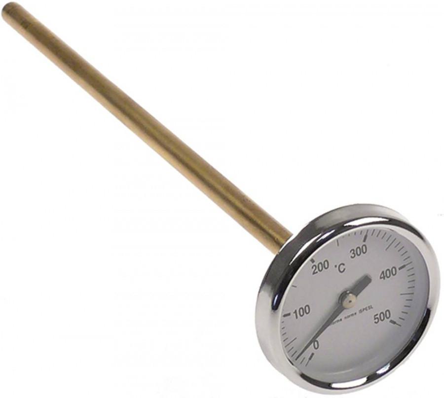 Термометр +500°C для пицца печей, мангалов, русских печей, дровяных печей
