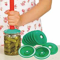 Вакуумные крышки для консервации и долгого хранения продуктов (В наборе 9 крышек)