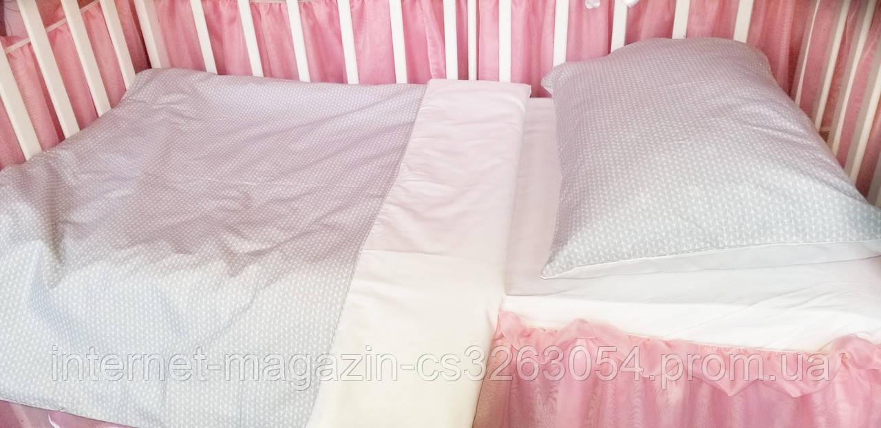 Постельное детское белье в круглую кроватку для новорожденных,сменное детское  белье,сменный комплект