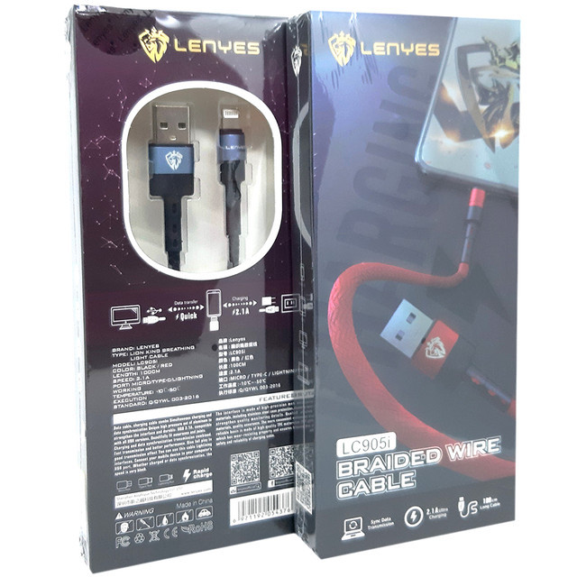 Кабель USB lighting Lenyes LC905I 1 м.