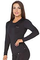 Женская спортивная кофта лонгслив Radical Efficient чёрная S, фото 1