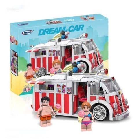 Детский конструктор Машинка The Ice Cream Car 1000 деталей