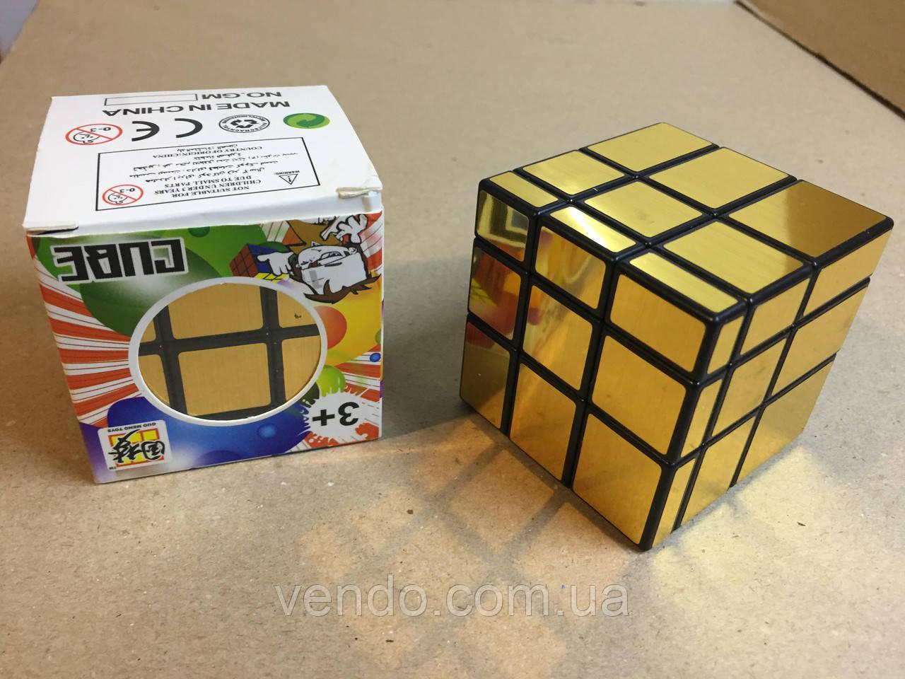 Кубик Рубика / зеркальный золото