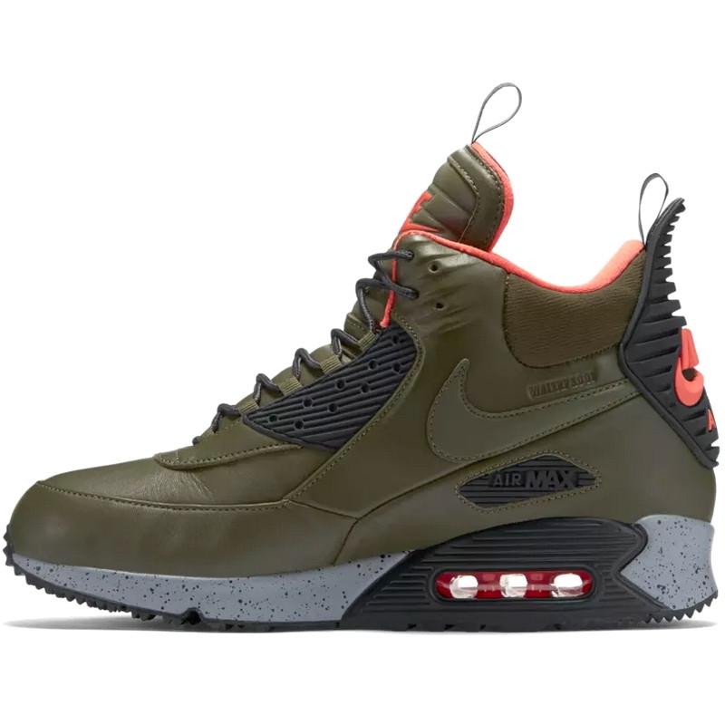 Кроссовки мужские Nike Air Max Sneakerboots 90's (зеленые) Top replic